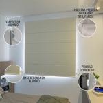 Persiana Romana Tecido Translucido Branca - Valor m2