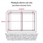 Persiana Rolo Tecido Tela Solar Screen 5% Branca - Valor m2